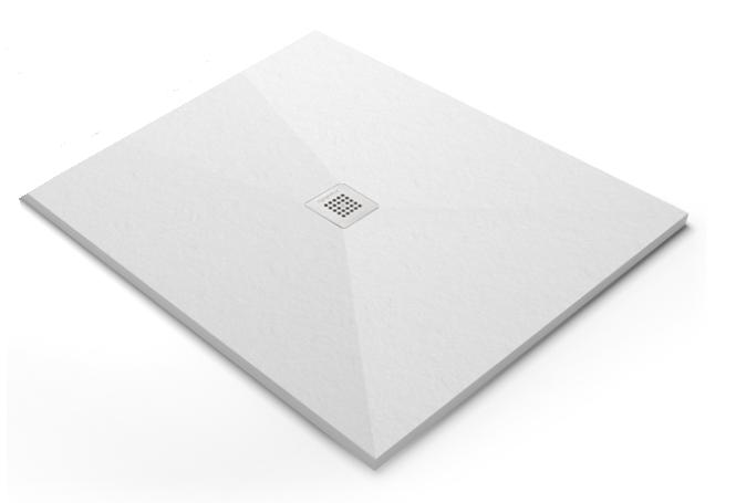 Acquabella Slate douchevloer vierkant 80-90 cm x80-90 cm, zwart