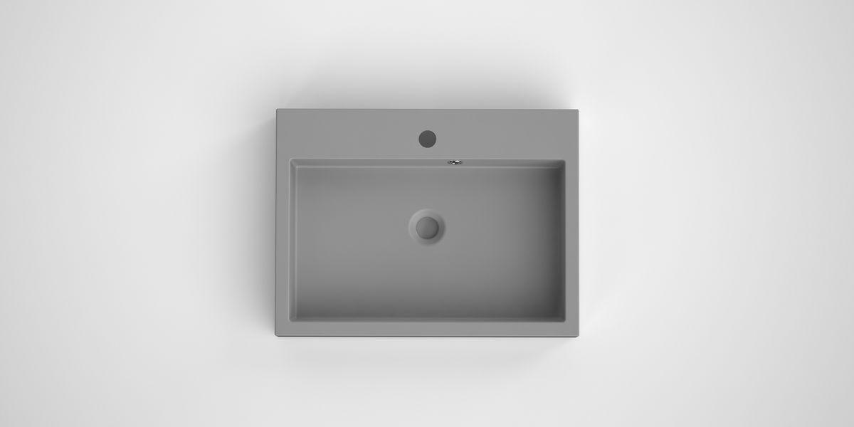 Bruynzeel Box opbouwwastafel composiet 60 x 45 cm, grijs