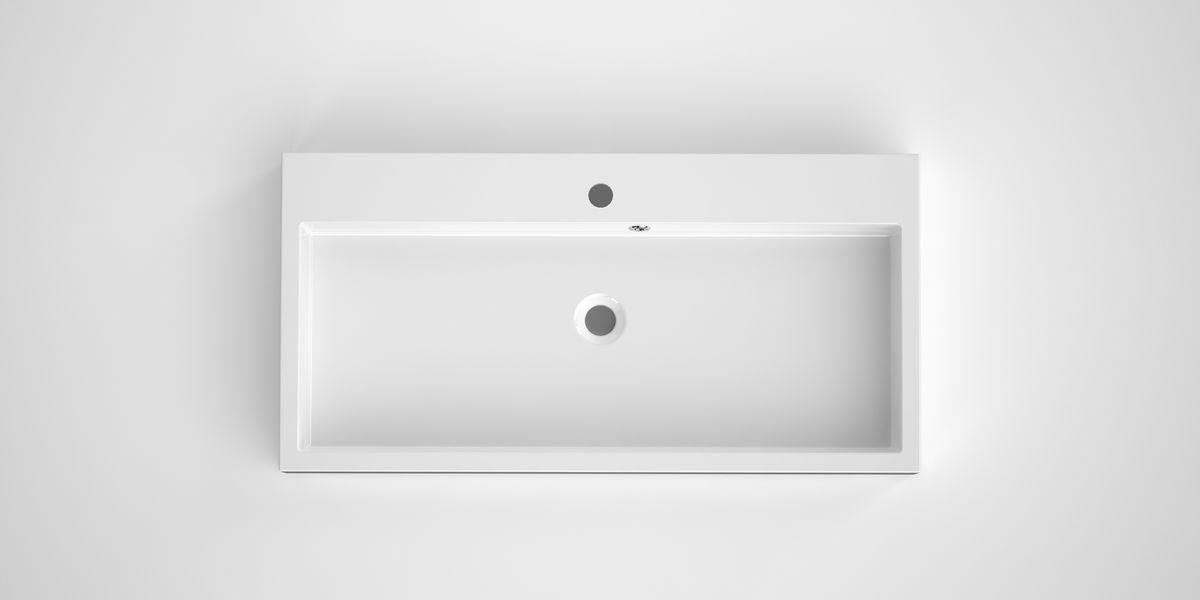 Bruynzeel Box opbouwwastafel composiet 90 x 45 cm, wit