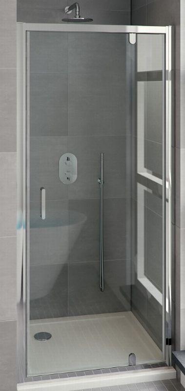 Bruynzeel Cilo draaideur 100x195 cm, aluminium-helder veiligheidsglas
