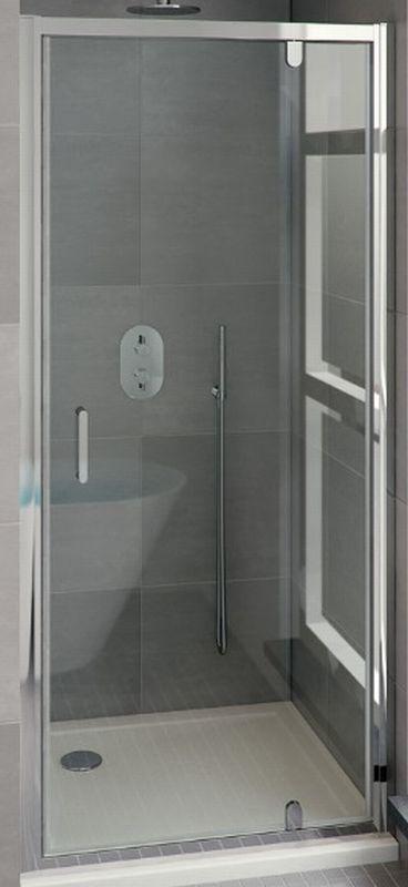 Bruynzeel Cilo draaideur 80x195 cm, aluminium-helder veiligheidsglas
