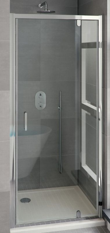Bruynzeel Cilo draaideur 95x195 cm, aluminium-helder veiligheidsglas