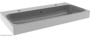 Bruynzeel Pinto composiet wastafel met 2 kraangaten 90x46 cm, wit