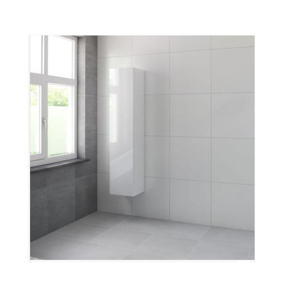 Bruynzeel Roma hoge kast 165x35x35 cm linksdraaiend, glans wit