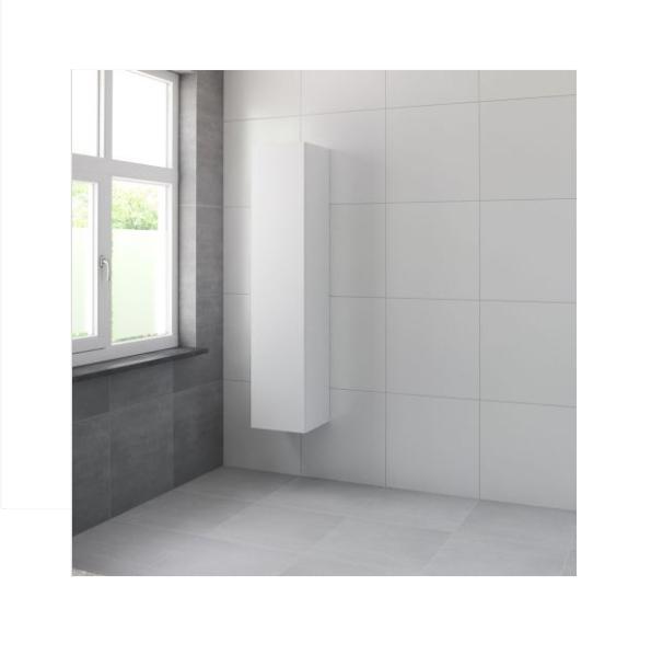 Bruynzeel Roma hoge kast 165x35x35 cm linksdraaiend, mat wit