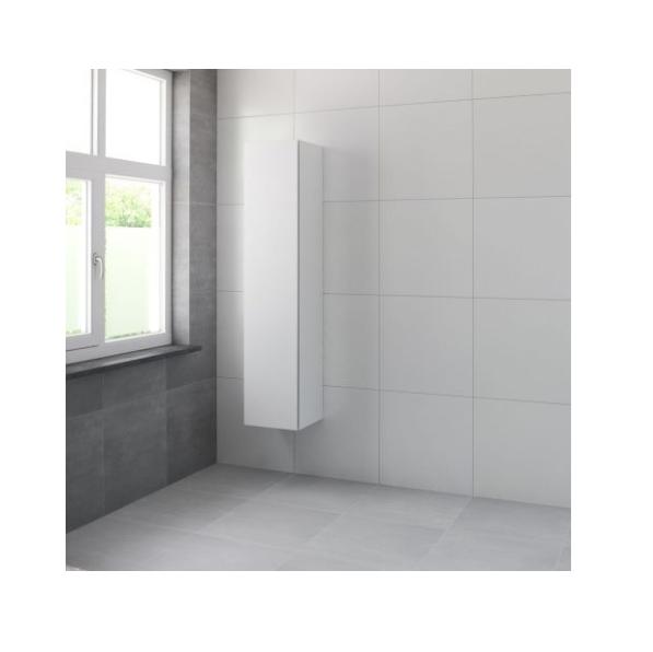 Bruynzeel Roma hoge kast 165x35x35 cm rechtsdraaiend, mat wit