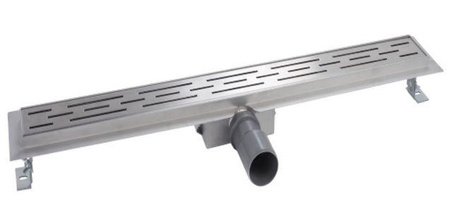 Mueller Luxa RVS douchegoot 100x7cm met flens