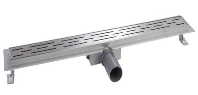 Mueller Luxa RVS douchegoot 60x7cm met flens