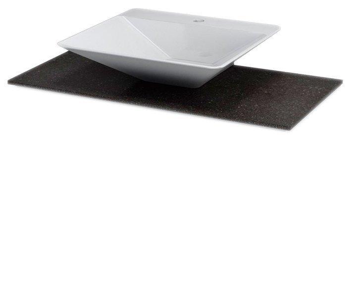 PURA Rockstone-blad 100x50cm voor EDGE 59cm wastafel