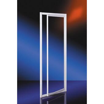 """Plieger Class draaideur 3 mm glas """"omkeerbaar"""" 86/90x185 cm voor nis of zijwand aluminium"""