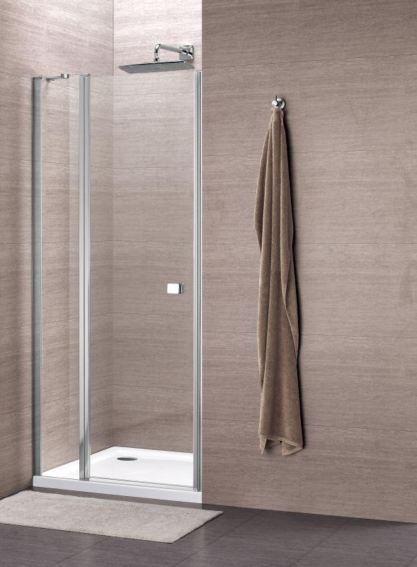 Sub 059 draaideur 90x195 cm met vast paneel, chroom-helder clean