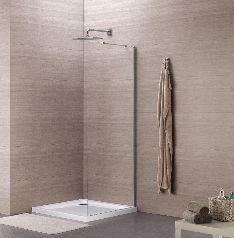 Sub 059 zijwand voor draaideur 90x195 cm, chroom-helder clean