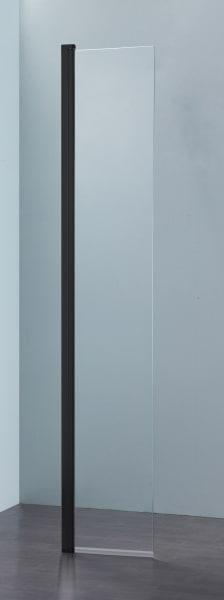 Sub 066 draaideel voor walk-in 35x200 cm., zwart mat-helder clean