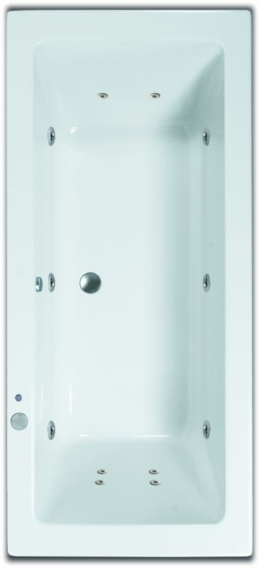 Sub 189 systeembad 180x80 cm injectie lucht pw6 +4 +2, wit