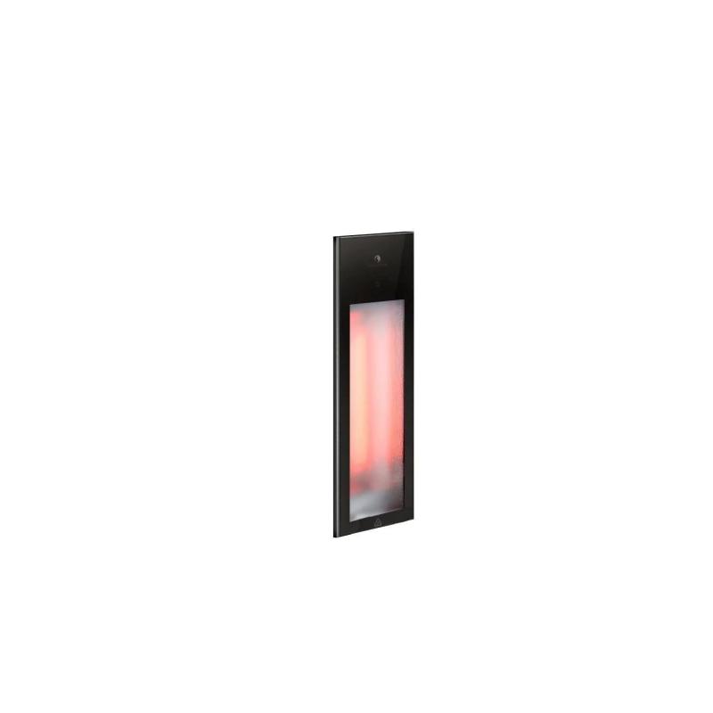 Sunshower Pure Black Infrarood Inbouw 62x20x10 cm Half Body 1000W Aluminium