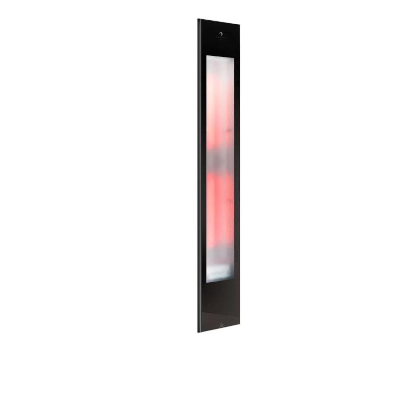 Sunshower Pure XL Black Infrarood Inbouw 20x124x10cm Half Body 2 x 1000W Aluminium