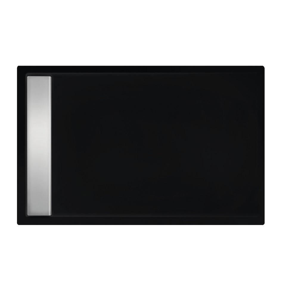 Xenz Easy-Tray Douchebak 110x90x5cm Ebony mat zwart