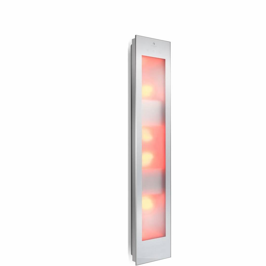 Combi White UV En Infrarood Opbouwapparaat 29X144X22.8 cm Aluminium Sunshower