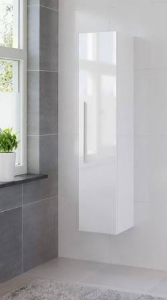 Bruynzeel Bando hoge kast met rechtsdraaiende deur, glans wit