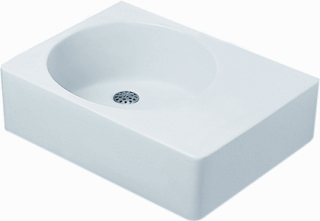 Duravit Variations Scola (Hoek-)wastafel links, wit, diepte 460mm breedte/diameter