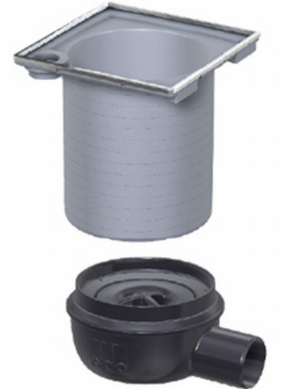 ACO Showerdrain Easyflow afvoerput horizontaal uitlaat 50 mm, stankslot 30 mm, grijs