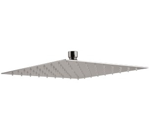 Plieger Napoli hoofddouche vierkant 25cm RVS