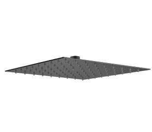 Plieger Napoli hoofddouche vierkant 25cm mat zwart