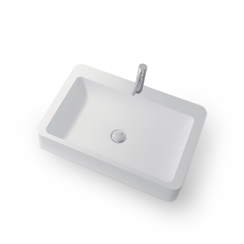 Opbouw Wastafel Bellezza Bagno San Bennedeto Solid Surface 60x41.4x10.5 cm Mat Wit Bellezza Bagno