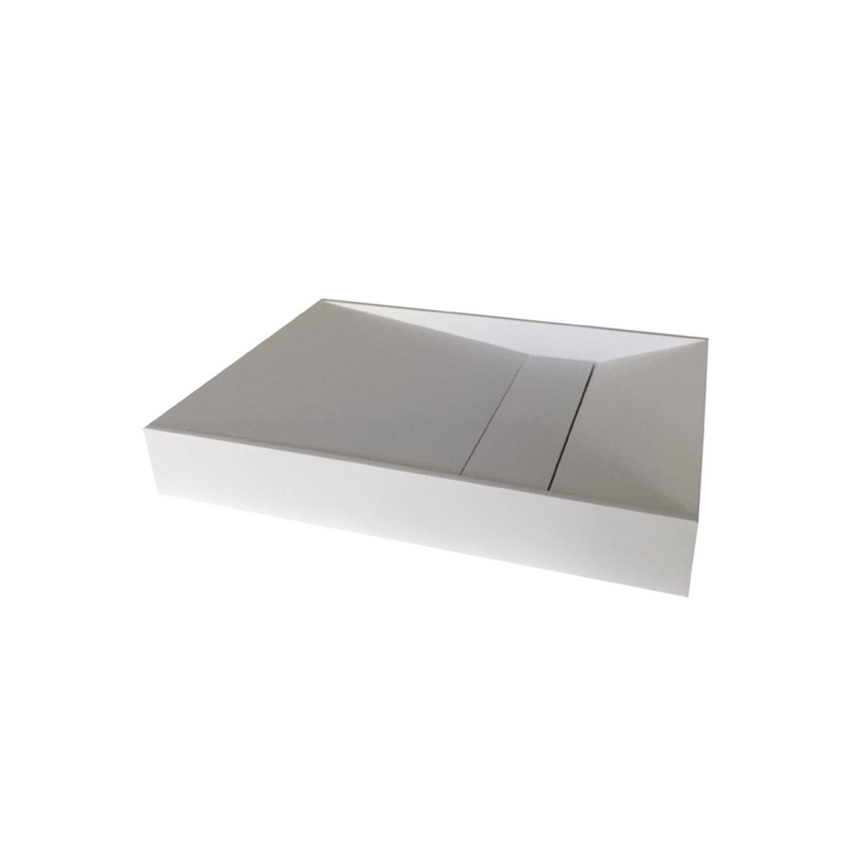 Opbouw Wastafel Bellezza Bagno San Giorgo Solid Surface 60x42.5x9 cm Mat Wit Bellezza Bagno